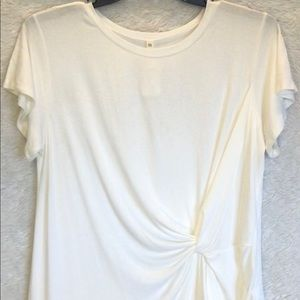 Ivory twist front shirt